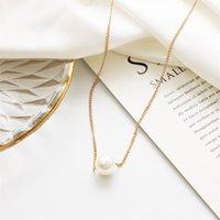 Collar corto de perla simple para mujeres Color de oro dulce Clavícula delgada Clavícula de la moda Accesorios de fiesta de la manera elegante Chokers