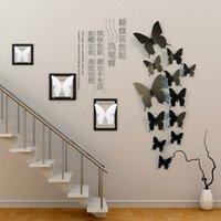 Aufkleber Aufkleber PVC Simulation Schmetterling Dreidimensionale Dekoration Kühlschrank Paste Kindergarten Raum Verschönerung Wand
