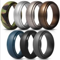 Men's Silicone Rings Rubber Wedding Bands Flexible Silicon Comfortable Fit Lightweigh Ring Multi Colors and Size Men Jewelry ps1620