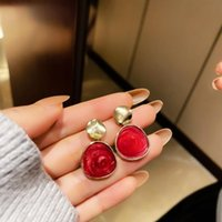 Stud Summer Personality Creative Oil Painting Pendant Earrings Luxury Fashion Prom Party For Women Holiday Gifts