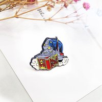 Pins, Brooches Wizard Magician Enamel Brooch The Book Of Devil Lapel Pin Cartoon Animation Ghost Badge Pins Gifts For Children
