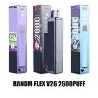 Originale QST RANDM Flex EX monouso E Sigarette Kit dispositivo 2600 Puffs 1000mAh Batteria Premilled 8.5ml POD POD VAPE STICK PEN PEN PLUS 100% Aut