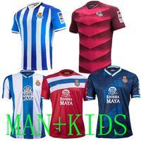 21 22 RCD Espanyol Soccer Jerseys Kids Home Alojamiento Tercero # 7 Wu Lei Real Sociedad 2021 2022 Odegaard Oyarzabal Pedrosa David López Juanmi Jersey Camisa de fútbol blanco