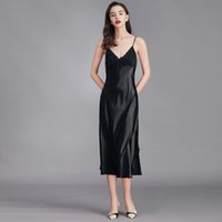 Sexy Night Dress Lingerie Silk Nightgown Summer Clothes For Women Sleepwear Chemise De Nuit Robe Nuisette Long Ladies Home Femme