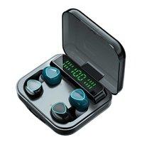 TWS Bluetooth Fone de ouvido 2 par 5,1 Caixa de carregamento Fone de ouvido sem fio com MICR 9D STEREO STEREO IPX7 À Prova D 'Água Earbuds Headsets