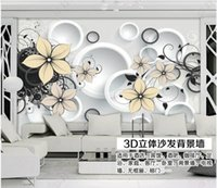 Custom photo wallpapers 3d murals wallpaper Modern circle flower living room TV background wall paper home decoration