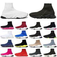 2021 zapatos de calcetines casuales zapatillas de deporte para hombres mujeres de alta triple triple negro blanco beige rosa cristal Clearsole para hombre moda deportes al aire libre tenis entrenadores de tenis