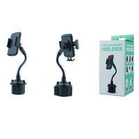 Universal car center console water cup holder mobile phone holders gooseneck 360 degree bending lazy long and short pole navigation bracket
