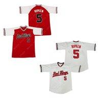 Erkekler Cal Ripken Jr # 5 Rochester Kırmızı Kanatlar Beyzbol Forması Dikişli