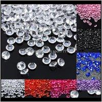 Evento festivo casa jardim gota entrega 2021 1000 pcs 4dot5mm decoração de casamento artesanato diamante confete mesa espalha claro acrílico cristá