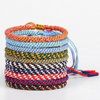 Tennis Lucky Tibetan Woven Rope Bracelet For Women Men Couples Colorful String Adjustable Jewelry Friend Gifts Bohemian