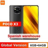 النسخة العالمية Xiaomi Poco X3 NFC 6GB 64GB Snapdragon 732G Octa Core 64MP رباعية كاميرا 6.67 بوصة 120Hz dotdisplay 5160mAh