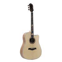 2021 Großhandel maßgeschneiderte Fichte Sapele Akustikgitarre, eingelegter Anhänger Wissenschaftlicher Holzfingerboard, Top Solid Guitar