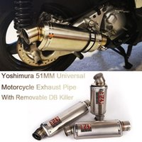 Motorcycle Exhaust System 38-51mm Inner Universal Yoshimura Pipe Modified Mufflers With Removable DB Killer Escape Moto