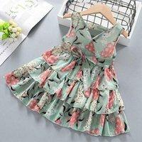 فساتين الفتيات 2021 الصيف أزياء الأميرة اللباس مصمم الملابس ملابس الطفل ملابس الاطفال