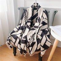 Luxury Brand Cashmere Scarf Winter Women Pashmina Shawls Warm Blanket Wraps Female Foulard Bandana Thick Print Scarves 180x65cm