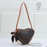 Designer Handtaschen Berühmte Mode Liebe Damen Crossbody Herz-förmige Tasche Brieftasche Handtasche Schulter Münze Geldbörse