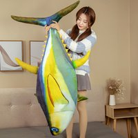 Cute Animal Tuna Plush Doll Marine Life Toy Giant Stuffed Cartoon Fish Sleeping Pillow Cushion for Baby Girl Gift 59inch 150cm DY50970