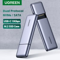 SSD Case M.2 Dual Protocol NVMe SATA to USB 10Gbps M2 Hard Disk Case Caddy Docking Station For External Hard SSD Drive