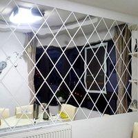 Wandaufkleber 3D Diamant Spiegel für Wohnzimmer Schlafzimmer Acrylkunst Film Fliesen Home Decorations Zubehör