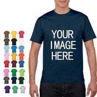 Sin logotipo Precio de algodón manga corta color sólido t-cuello tops tops tops tee personalizado impresión su propio diseño impreso unisex tshirtsoccer jersey