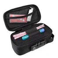 Smoking Smell Proof Stash Bag With Combination Lock Large Carbon Lined Container Organizer For Tobacco Storage Case Pipes
