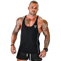 Fortes Elevador Algodão Academias Tanques Homens Sem Mangas Tanques para Meninos Bodybuilding Roupas Roupas de Fitness Stringer