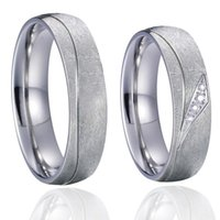 Wedding Rings Titanium Jewelry Alliances Band Couple Ring Men Silver Color Bridal Love Promise Engagement For Women