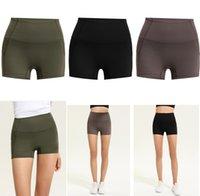 Designer lulu yoga women shorts leggings workout gym short lu pant wear Align legging fitness overall tights quick dry womens sport outfit dresses Elastic waist