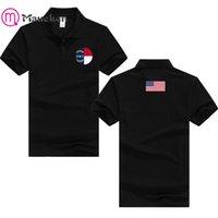 2021 ABD Eyaletleri Bayrağı Amerikan Kuzey Carolina Polo T-Shirt Erkekler Kısa Kollu Baskılı Ülke Pamuk Ulus Takım Bayrağı ABD T Shirt H0913