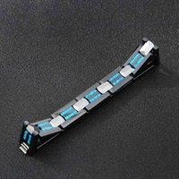 Armband Zubehör Hohe Männer Mode Wolfram Grad Stahl Schwarz Keramik Magnet Armband Geschenk