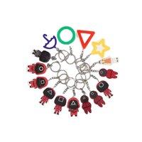 Korean squid game Cartoon Figures masked pendant Li Zhengzai's creative gift with key chain