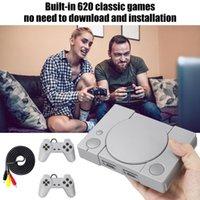 내장 620 액션 게임 미니 클래식 게임 콘솔 8 비트 PS1 홈 TV 레트로 더블 배틀 완구 선물 휴대용 플레이어