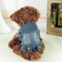 Small Pet Dog Cat Jean Denim Outwear Costume Apparel Puppy Clothes Winter Jeans Hooded Jacket Coat Costumes