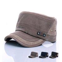 Широкие шляпы Breim мода плоская густая шляпа шапки мужские винтажные военные открытый унисекс случайные хлопковые солдаты джинсовой солнцезащитный козырек сплещен бейсбол