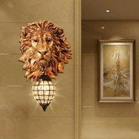 Wall Lamp Minimalism Luxury Lion Living Room Dining Bedroom Restaurant Kitchen Light Home Decor Vintage Sconce