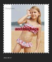 Çocuk Mayo Modeli Kızlar Bikini Set Çocuklar İki Parçalı Katmanlı Çiçek Çocuk 2 Parça Mayo Kız Mayo Çocuk Plaj Giyim1