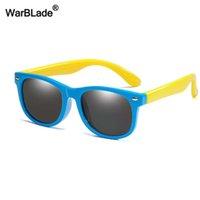 Warblade جديد الاطفال الاستقطاب النظارات الشمسية tr90 الفتيان بنات نظارات الشمس سيليكون نظارات السلامة هدية للأطفال الطفل uv400 نظارات