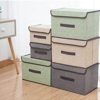 침실 보관함 뚜껑이있는 옷을 입은 뚜껑 화장품 주최자 저장소 접이식 파편 휴대용 방진 컨테이너 상자 LLA6753