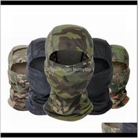 Caps Masks Protective Gear Sports & Outdoorstactical Balaclava Cp Full Face Neck Head Warmer Outdoor Hunting Cycling Hiking Skiing Scarf Arm