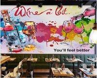 3d wallpaper custom photo European and American hand-painted wine bar winery home decor living room 3d wall mural wallpaper for walls in rolls