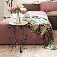 Гостиная мини мебельный стол Артизассеты терраса консоли консоли круглые с цветным стеклом ананасовый узор крытый и наружный