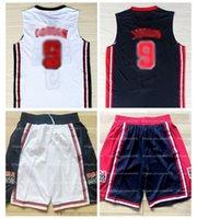 Versión de películas Marca Basketball Jersey Shorts New 1992 Dream Team EEUU EE. UU. EE. UU. Juegos Olímpicos Top Hombre cosido negro blanco S-2XL