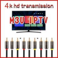 A antena mais estável da TV por satélite M3U, uma linha de transmissão é compatível com TV inteligente, Android e iOS. Xxx alto claro 4 k
