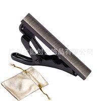 Men's smooth tie clip small   a gift bag-ldj007-e