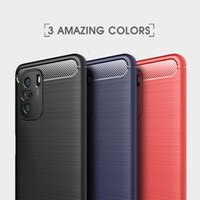 Business Cases For Xiaomi 11 Lite Ultra 10S Poco F3 11i For Redmi Note 10 K40 Pro Plus Max Carbon Fiber Brushed TPU Phone Cover