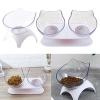 Dog Bowls & Feeders Round Cat Elevated Pet Raised Feeder For Small Animals Chihuahua