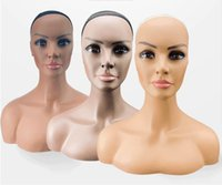 Wholesale Double Shoulder Mannequin Manikin Head Stand for Wig Hat display