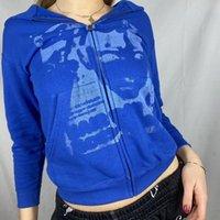 Men's Hoodies & Sweatshirts 2021 Gothic Dark Style Print Hooded Sweatshirt Women Men Harajuku Winter Fashion Casual Y2K Aesthetic Zipper Top