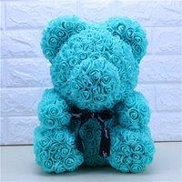 Commercio all'ingrosso grande custom teddy rose orso con scatola lussuosa 3D orso delle rose fiore regalo di natale regalo di San Valentino regalo 491 R2